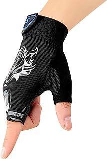 Kids Fingerless Cycling Gloves Riding Gloves Non-Slip Half Finger Bike Gloves Breathable Bicycle Gloves for Children Girls...