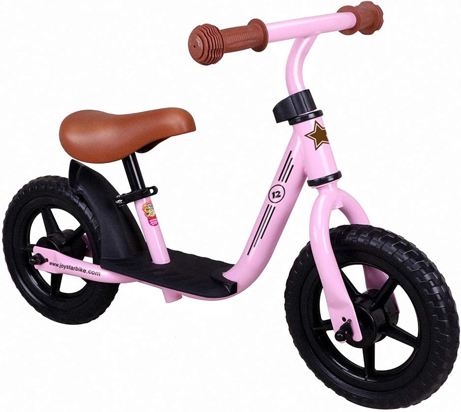 JOYSTAR 10 12 Inch Kids Balance Bike with Footrest for 15 Years Girls & Boys, Toddler Push Bike, (bluee, Green, Pink, Red)