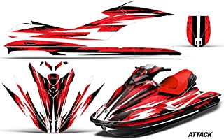 AMR Racing Jet Ski Graphics kit Sticker Decal Compatible with Sea-Doo GTI 2006-2010 - Attack Red