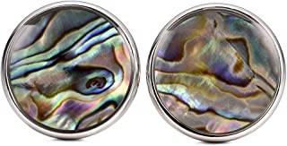 Mens Color Abalone Shell Cufflinks Fancy Mother of Pearl Cuff Links for Groom Father