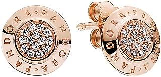 Earring Signature 280559CZ , 2PC Bundle, w/PANDORA Gift Box