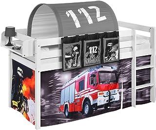 Lilokids Rideau pompier pour lit mezzanine, lit de jeu et lit superposé.