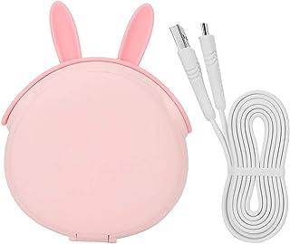 Kosmetiska verktygstillbehör praktisk bärbar USB-powerbank för män kvinnor för makeup för resor för hushållet (rosa)