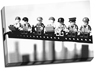 Panther Print Lego Lunch ATOP A Skyscraper Canvas Print Poster 30X20 Inches A1