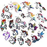 Anddyam Unicorn Iron on Patch Decorative Embroidered Motif Applique (20pcs)