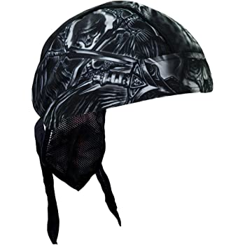 Hot Leathers Authentic Bikers Premium Headwraps POW High Quality Micro-Fiber /& Mesh Lining HEADWRAP