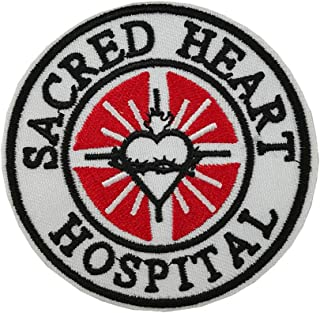Sacred Heart Hospital Embroidered Iron on sew on Patch Medical Nurse Doctor First aid Logo
