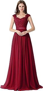 b5783ad9543 MisShow Robe Femme Elégante de Mariage Soirée Demoiselle d honneur Longue  Maxi en Mousseline Florale