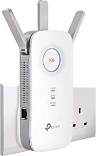 TP-Link AC1750 Universal Dual Band Range Extender, Broadband/Wi-Fi Extender, Wi-Fi Booster/Hotspot with 1 Gigabit Port and...