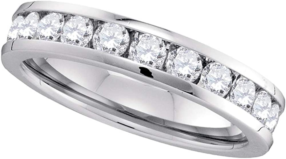 Jewels By Lux 14kt White Gold Diamond 4 Round List price Womens Channel-Set Finally resale start