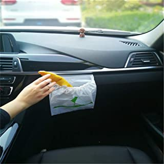 Tsongja Car Trash Bag, Disposable Best Can Bin Container Bag for Auto Vehicle Office Kitchen Bathroom Study Room, 30 Pcs/Bag