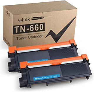 V4INK Compatible Toner Cartridge Replacement for Brother TN630 TN660 (Black, 2-Pack), for..