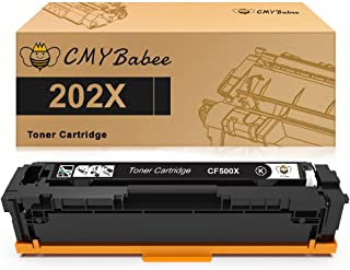 CMYBabee Compatible Toner Cartridges Replacement for HP 202X CF500X for HP Laserjet Pro M281fdw M254dw M254dn M254nw M281dw MFP M281fdn M281cdw M281 M254 (1-Black)