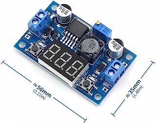 QEBIDUL LM2596S DC-DC Buck Converter DIY 4-40V to 1.25-37V Step-Down Regulator Power Module Volt Stabilizer with LED Voltm...
