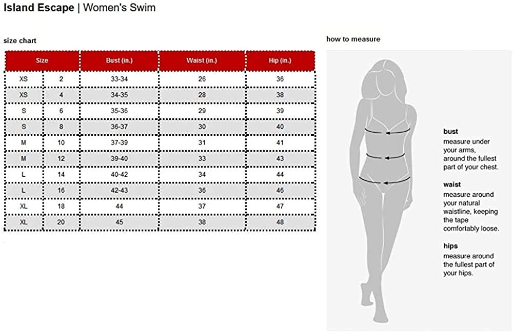 Island Escape Women's Mar-E-Sol Convertible Tiered Tankini Top