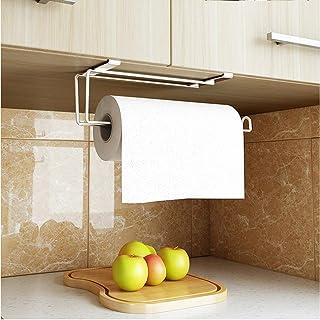 Stainless Steel Kitchen Paper Hanger Tower Tissue Hanger Organizer Under Cabinet Over Door