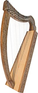 Roosebeck Lightweight Pixie Harp 19-String - Non Standing - Solid Walnut