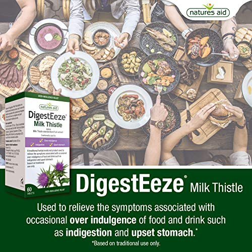 Natures Aid DigestEeze Milk Thistle 150mg 60 tablet