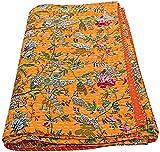 Colcha Kantha floral de la pantalla, colcha kantha para la venta,...