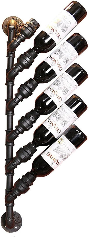 seguro de calidad ZRX-estante ZRX-estante ZRX-estante del vino Vintage Wine Racks Soporte de Parojo Metal Bar   Portabotellas de Vino   Rustic Wine Holder montado en la Parojo   Estantes Flotantes Loft Wall Wine Shelf Storage Organizer   Dise  apresurado a ver