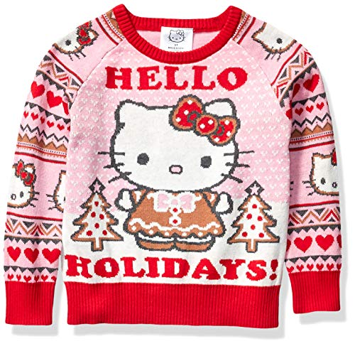 Hello Kitty Mädchen Ugly Christmas Sweater Pullover, Pink, Groß