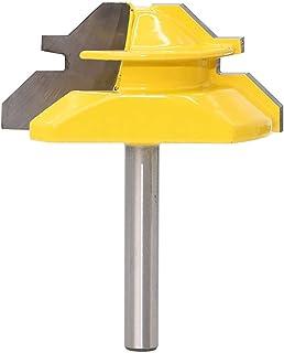 Cutting Edge Length : 3PCS 8mm Shank Qingn-Fresa Fuerte y Robusto 8mm End Molino de Molino 45 Grados Lock Mitre enrutador bit Tenon Fresing Cortador de fresado para Herramientas de Madera 1pc