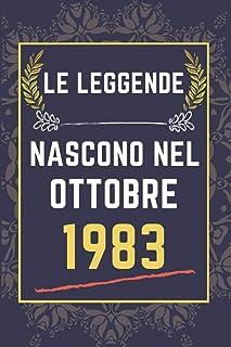 Le leggende nascono nel ottobre 1983: quaderno a righe || Regalo di compleanno per una persona nata in ottobre || Regalo d...