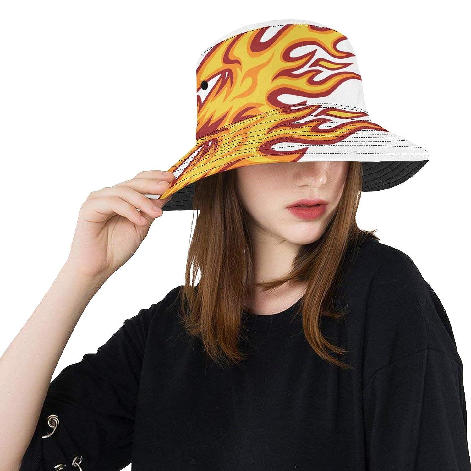 Phoenix Flying High Summer Unisex Fishing Sun Top Bucket Hats for Kid Teens Women and Men with Packable Fisherman Cap for Outdoor Baseball Sport Picnic