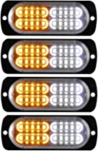 Justech 96LEDS 288W Feux de Secours R/écup/ération Strobe Avertissement Ambre /Étanche Lumi/ère de Toit 21Flash Modes avec Affichage Num/érique Commutateur de Contr/ôle pour 12//24V Voiture Camion Remorque