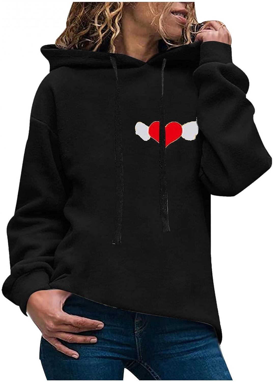 ONHUON Hoodies for Women,Women's Fashion Graphic Printed Long Sleeve Hooded Sweatshirt Loose Pullover Casual Hoodie Tops