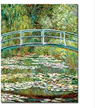 Claude Monet Painting Water Lilies Canvas Wall Art Painting Printed Home Decor Oil Canvas Painting Reproduction 50 * 65Cm