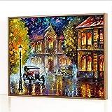 GJJHR DIY Pintura por Números Kits,Tranvía Pintada a Mano Pintura al óLeo Digital, DecoracióN del Hogar Regalo - 40x50cm(Marco de Madera)
