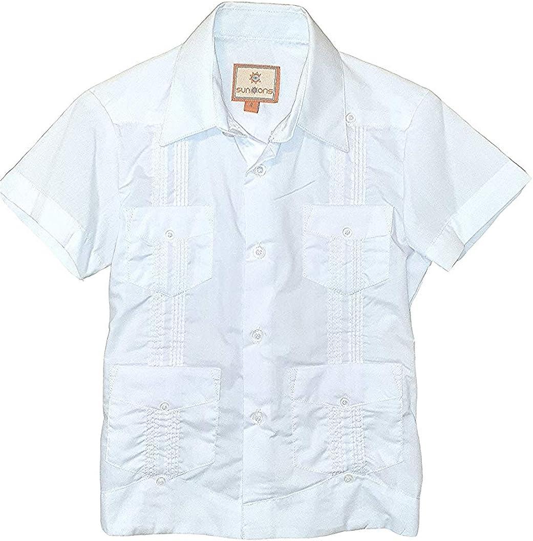 SUNINCANS Guayabera Cotton Shirt for Boys Traditional Latin Events