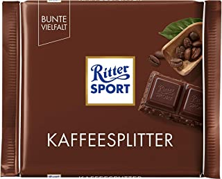 Ritter Sport Coffee Splitter (5 x 100g) - dark chocolate with caramelized coffee beans bits