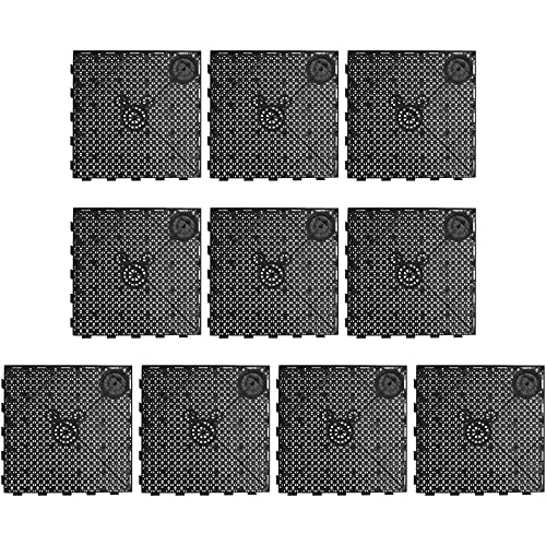 POPETPOP 10 stücke Aquarium Bodenfilterplatte PVC Spleißen Kombination Clapboard Bodenfilter (Schwarz)