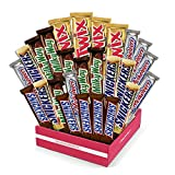Sweet Choice gift Basket Mars Chocolate Bar Variety Pack, 55 Ounce, 30 Count Twix,Snickers,milky way,(Free Cool Pack Included)