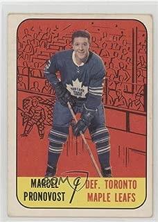 Marcel Pronovost Ungraded COMC Good to VG-EX (Hockey Card) 1967-68 Topps - [Base] #81