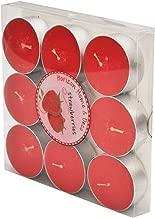 Horizonmum Tealight Mum, Kırmızı, 9 Parça