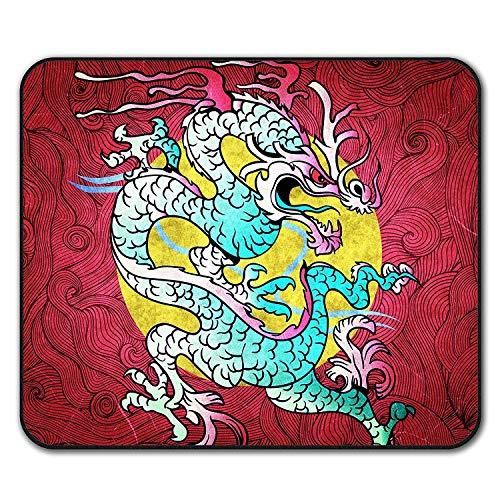 Yanteng Gaming Mouse Pad, Dragon Oriental Fantasy Mythische Rutschfeste Mauspad
