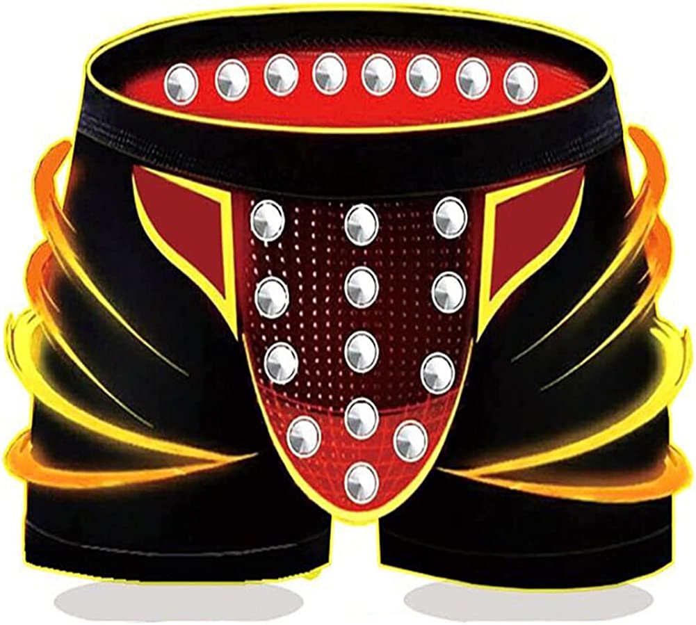 Men's Magnetic Modal Boxer Briefs Breathable Underwear(3-Packs,Black)