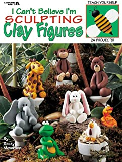 LEISURE ARTS I Cant Believe I'm Sculpting Clay Figure 1976