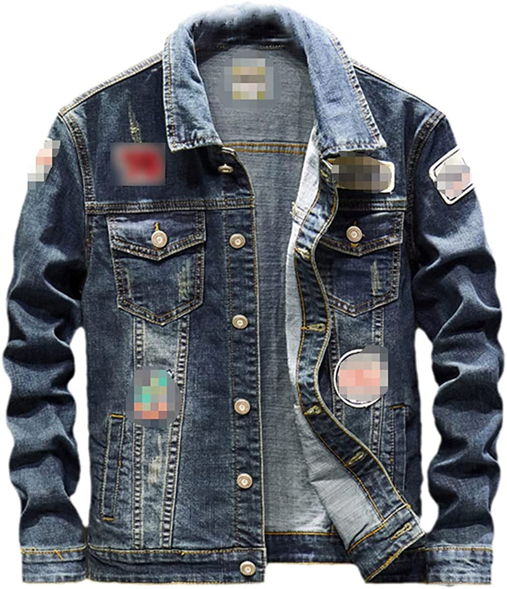 Men's Personalized Casual Denim Jacket Fashion Streetwear Spring And Autumn Denim Coat
