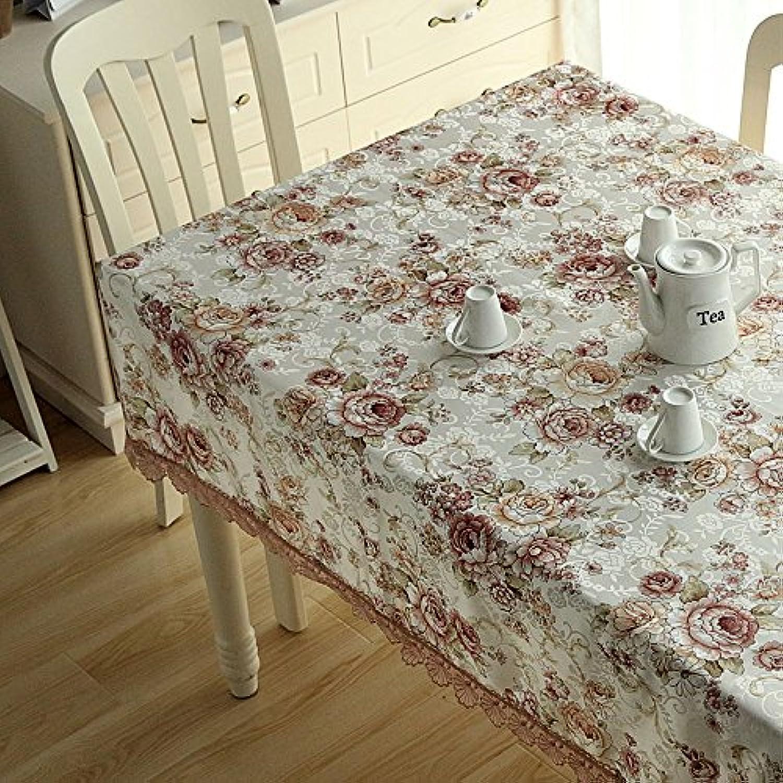 WAZY Tischdecke europäischen Stil Klassische Mehrzweck Tischdecke Spitze Polyester Jacquard Familie Esstisch TV Counter Tee Tischdecke Tuch (Farbe   F, Größe   140  200cm 55.1  78.7in) B07CZG5JC7 Große Klassifizierung  | Großhandel