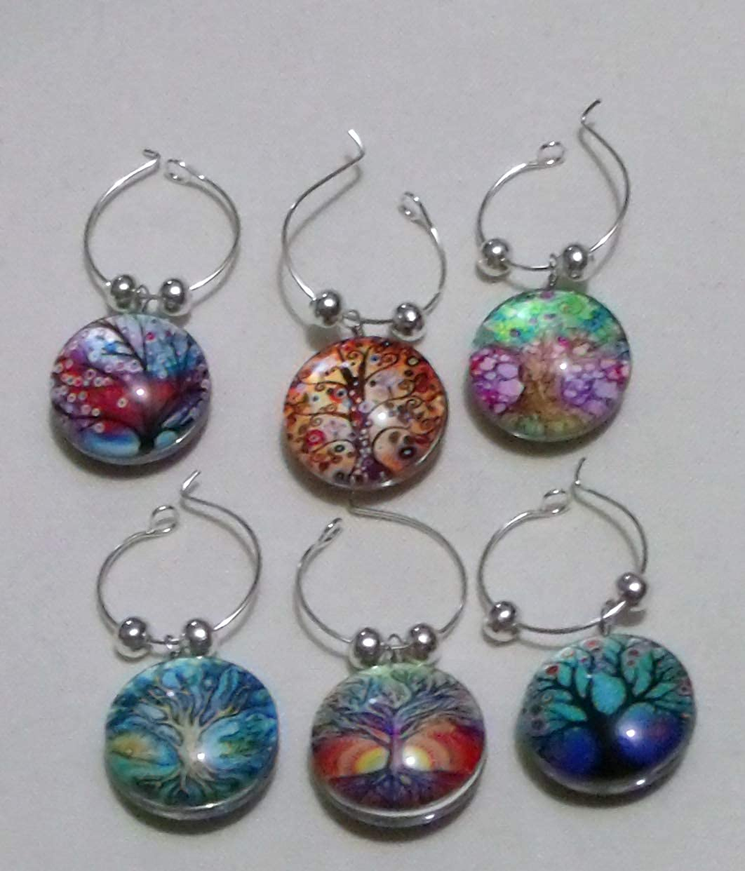 Recommendation Wine Charms ~ Glass Selling rankings Marker of Tree Life C