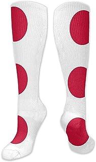 Tonesum, Calcetines con estampado de la bandera de Japón Calcetines abrigados Botas Calcetines deportivos elegantes y cálidos 50CM