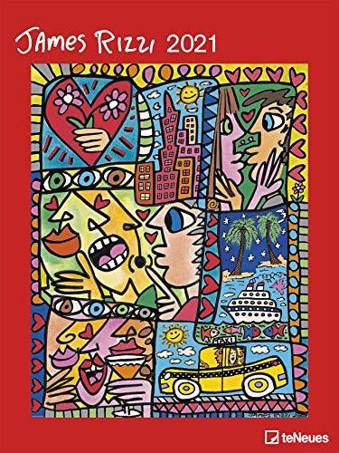 James Rizzi - Kalender 2021 - teNeues-Verlag - Kunstkalender - Wandkalender mit farbenprächtigen Gemälden - 47,8 cm x 63,8 cm