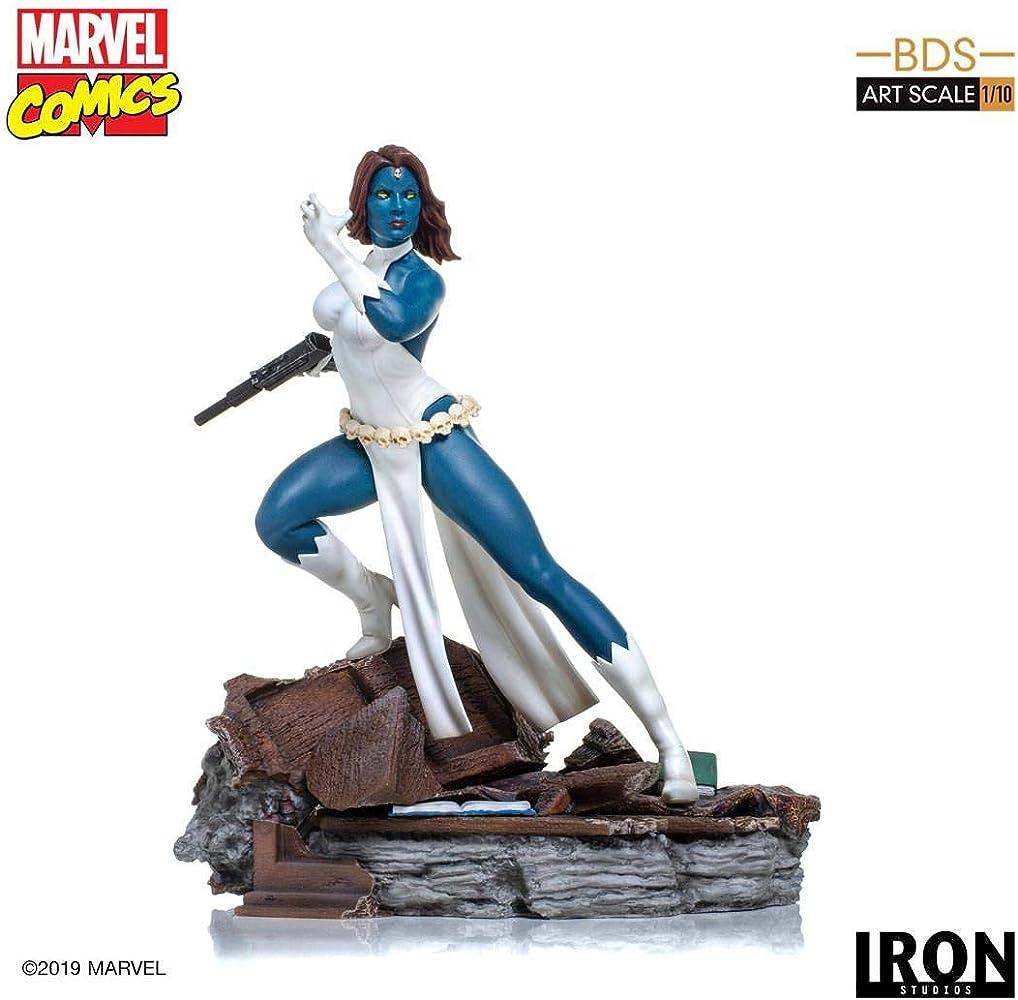 Statuetta da collezione marvel comics, mystique bds