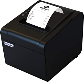 Rongta Portable Receipt Printer 250mm/s, 80mm Direct Thermal Printer, POS Printer with Auto Cutter USB Serial Ethernet Windows Driver ESC/POS Cash Drawer for Restaurant/Sales/Kitchen/Retail(RP326)