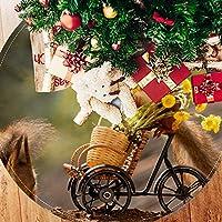 ツリースカート クリスマスツリースカート リス かわいい きれい ホリデーデコレーション メリイクリスマス飾り 下敷物 可愛い 雰囲気 クリスマスパーティー 直径77cm