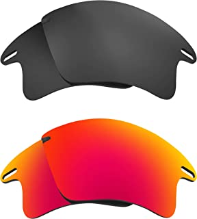 Lenses Compatible with OAKLEY FAST JACKET XL Asian Polarized Grey & Red
